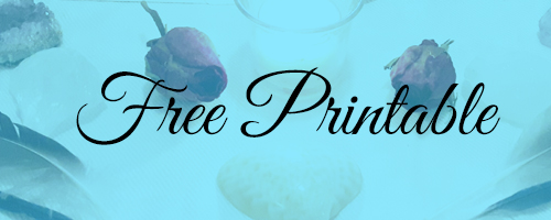 Free Crystal Healing Printable to Download