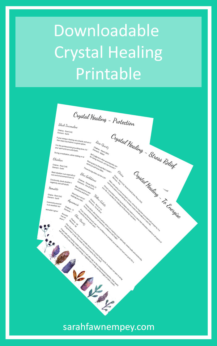 Downloadable Crystal Healing Printable