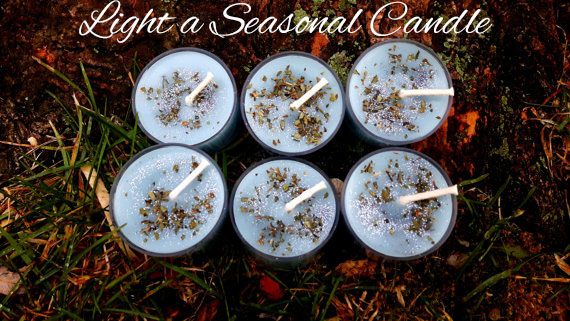 Handmade Soy Peppermint Tealights - Yule Rituals and Celebrations