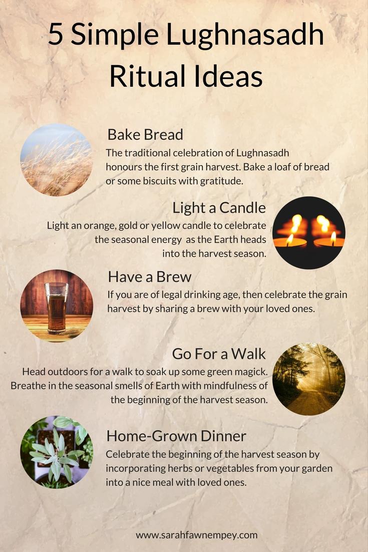 5 Simple Lughnasadh Ritual Ideas For Lammas Infographic